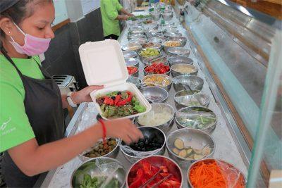 Vego Salad Bar vegetables