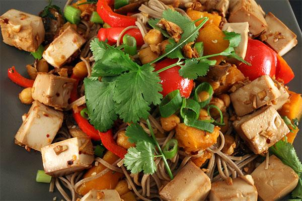 Vegetarian stir fry Cambodia