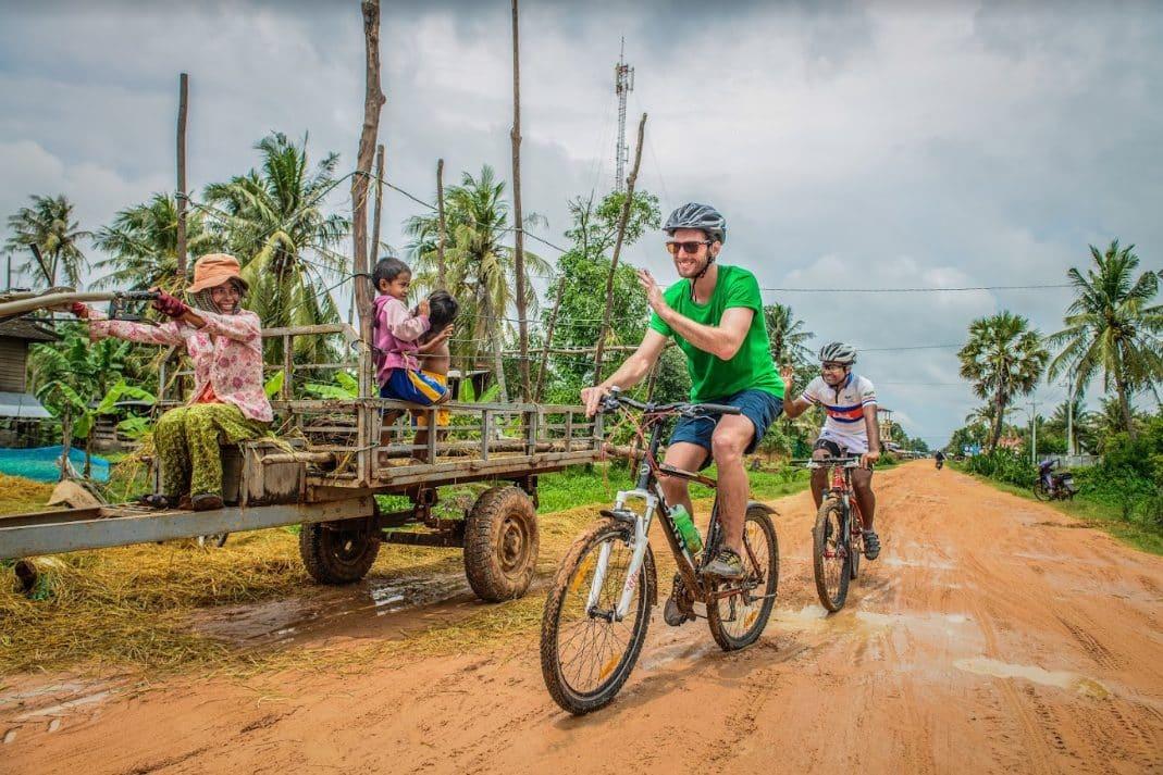 expats enjoying their bike ride
