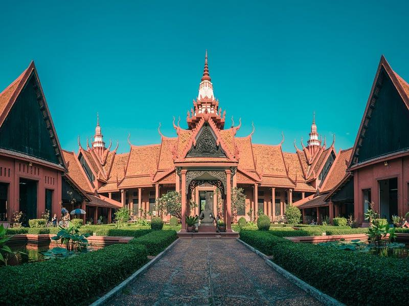 courtyard outside the National Museum Phnom Penh