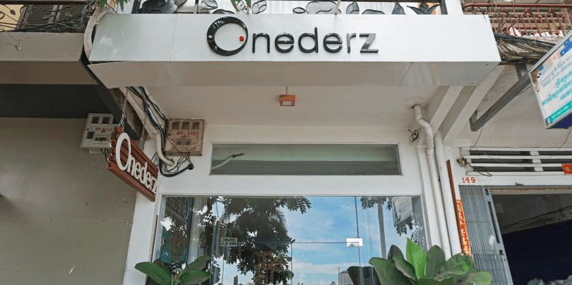 The Entrance to the Onederz Hostel in Phnom Penh